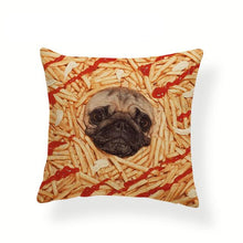 Load image into Gallery viewer, My Pug Loves Grub Cushion CoversCushion CoverOne SizeFrench Fries Pug