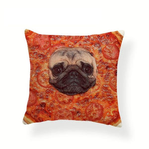 My Pug Loves Grub Cushion CoversCushion CoverOne SizePizza Pug