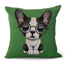 Load image into Gallery viewer, Nerdy Boston Terrier Cushion CoverCushion Cover