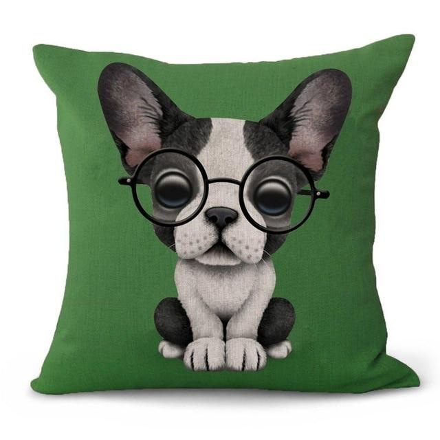 Nerdy Boston Terrier Cushion CoverCushion Cover