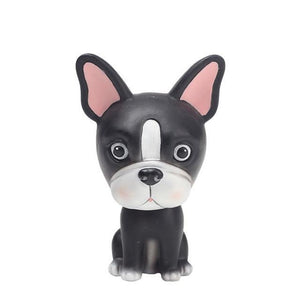 Nodding Boston Terrier Car Bobble HeadCarBoston Terrier