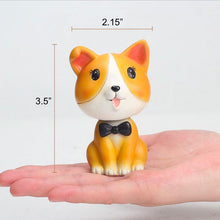 Load image into Gallery viewer, Nodding Corgi Car Bobble HeadCar