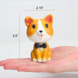 Nodding Corgi Car Bobble HeadCar