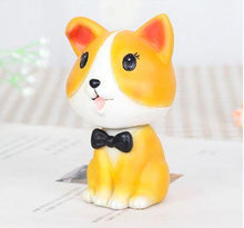 Load image into Gallery viewer, Nodding Corgi Car Bobble HeadCarCorgi