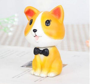 Nodding Corgi Car Bobble HeadCarCorgi