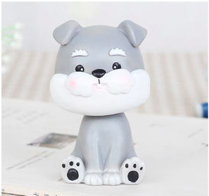Nodding Dogs Car Bobble HeadsCarMini Schnauzer