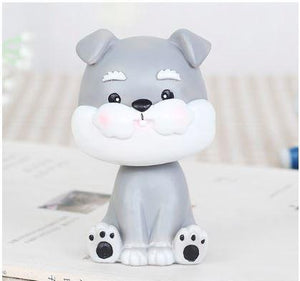 Nodding Pug Car Bobble HeadCarMini Schnauzer