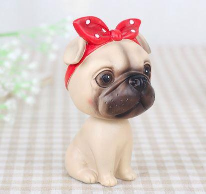 Nodding Pug Car Bobble HeadCarPug