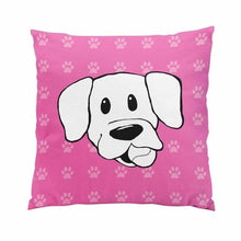 Load image into Gallery viewer, Pink Paw Print Labrador Love Cushion CoverHome Decor