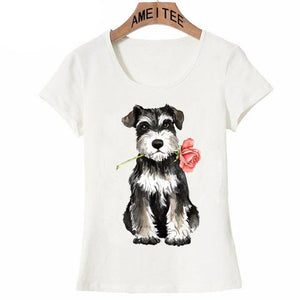 Pink Rose French Bulldog Womens T ShirtApparelSchnauzerS