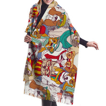 Load image into Gallery viewer, Prescription Glasses Doggo Warm Winter Shawl - Basset Hound, Boston Terrier, English Bulldog, Yorkshire Terrier & Jack Russell TerrierAccessories