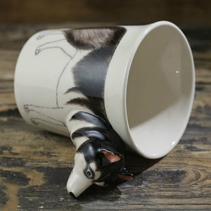 Husky Love 3D Ceramic Cup