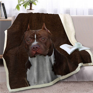 Chocolate Labrador Love Soft Warm Fleece Blanket - Series 5