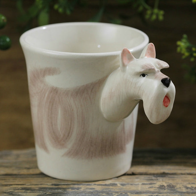 White Scotties / Scottish Terrier Love 3D Ceramic Cup