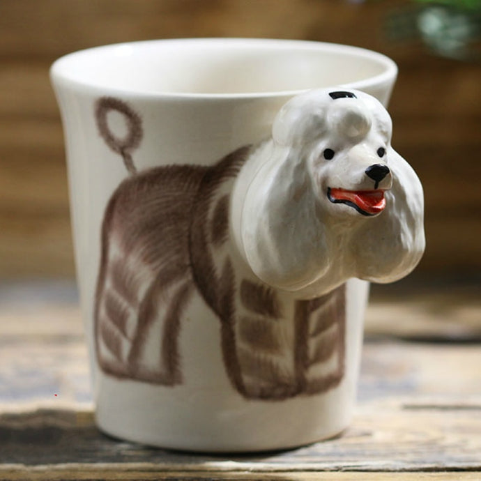 Poodle Love 3D Ceramic Cup