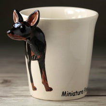 Load image into Gallery viewer, Miniature Pinscher Love 3D Ceramic Cup
