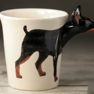 Miniature Pinscher Love 3D Ceramic Cup