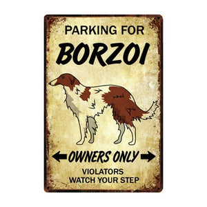 Husky Love Reserved Car Parking Sign Board