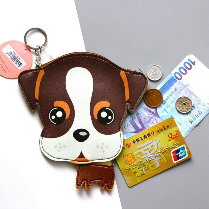 Boxer Love Coin Purse and Keychain