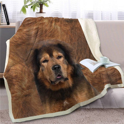 Tibetan Mastiff Love Soft Warm Fleece Blanket - Series 2