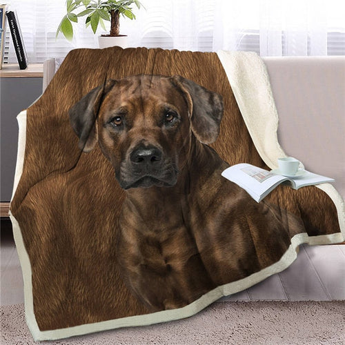 Rhodesian Ridgeback Love Soft Warm Fleece Blanket - Series 2