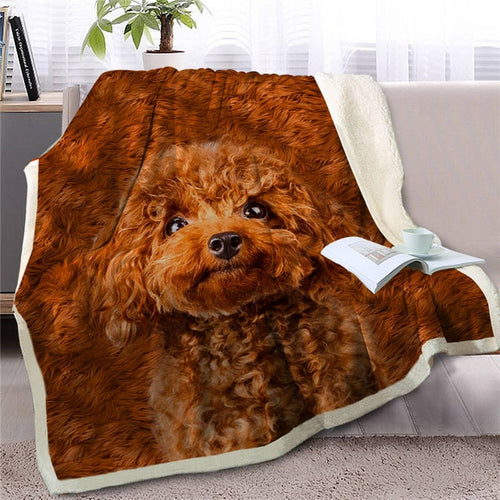 Toy Poodle Love Soft Warm Fleece Blanket - Series 2