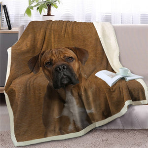 Bull Terrier Love Soft Warm Fleece Blanket - Series 2