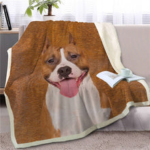 Load image into Gallery viewer, Bull Terrier Love Soft Warm Fleece Blanket - Series 2