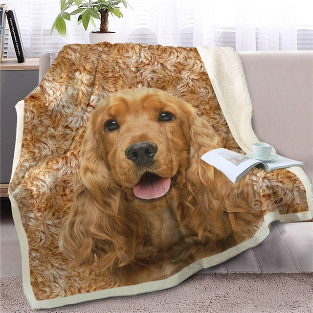 Cocker Spaniel Love Soft Warm Fleece Blanket - Series 2