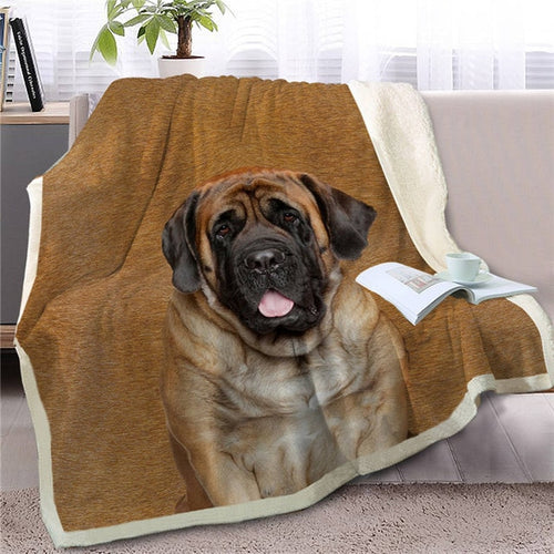 English Mastiff Love Soft Warm Fleece Blanket - Series 2