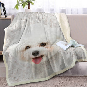 Samoyed Love Soft Warm Fleece Blanket - Series 5