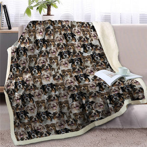 Sweetest Siberian Husky Dreams Warm Blanket - Series 1