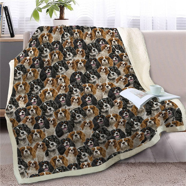 Sweetest Cavalier King Charles Spaniel Dreams Warm Blanket - Series 1
