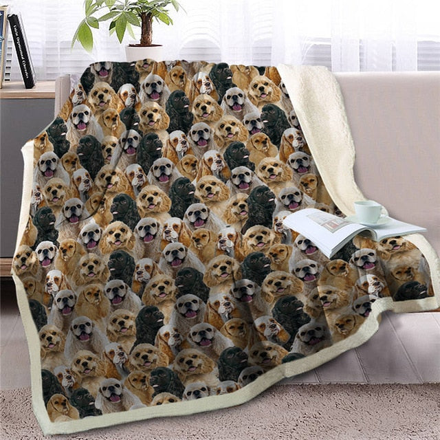 Sweetest Cocker Spaniel Dreams Warm Blanket - Series 1