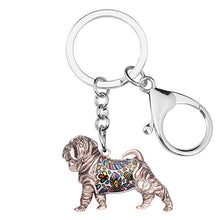 Load image into Gallery viewer, Beautiful Shar Pei Love Enamel Keychains