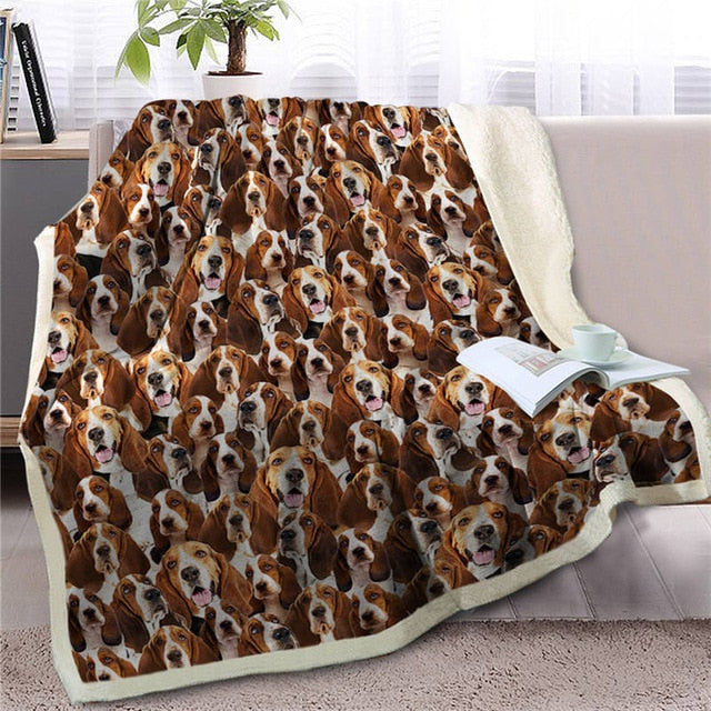 Sweetest Basset Hound Dreams Warm Blanket - Series 3