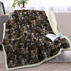 Sweetest Black and Yellow Labrador Dreams Warm Blanket - Series 3