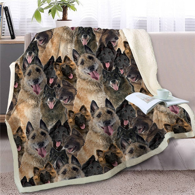 Sweetest German Shepherd Dreams Warm Blanket - Series 2