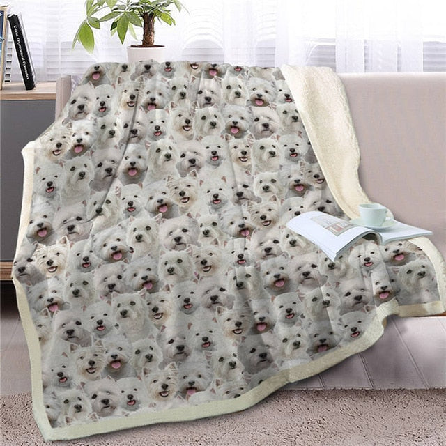 Sweetest West Highland Terrier Dreams Warm Blanket - Series 2
