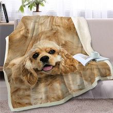 Load image into Gallery viewer, Cocker Spaniel Love Soft Warm Fleece Blanket - Series 3