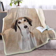 Load image into Gallery viewer, Whippet / Greyhound Love Soft Warm Fleece Blanket - Series 3