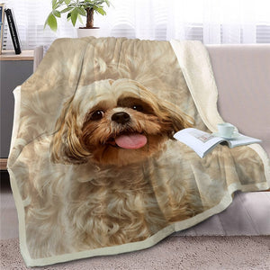 Schnauzer Love Soft Warm Fleece Blankets - Series 3