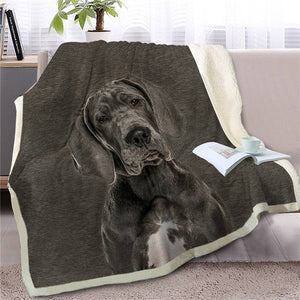 Great Dane Love Soft Warm Fleece Blanket - Series 4