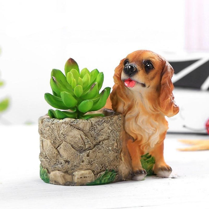 Cutest Cocker Spaniel Love Succulent Flower Pot - Series 3