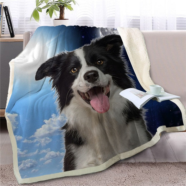 My Sun, My Moon, My Border Collie Love Warm Blanket - Series 1