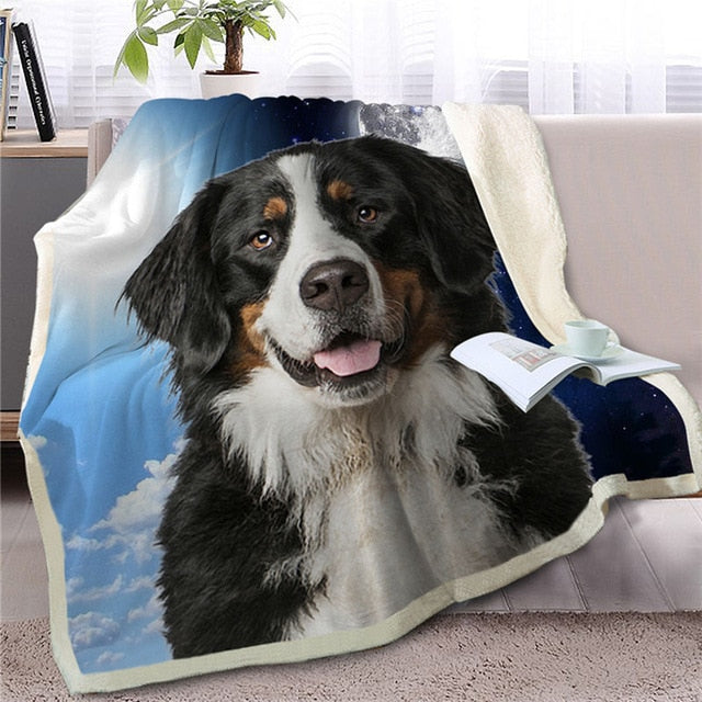My Sun, My Moon, My Bernese Mountain Dog Love Warm Blanket - Series 1