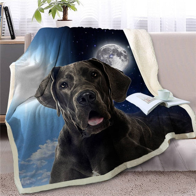 My Sun, My Moon, My Great Dane Love Warm Blanket - Series 1
