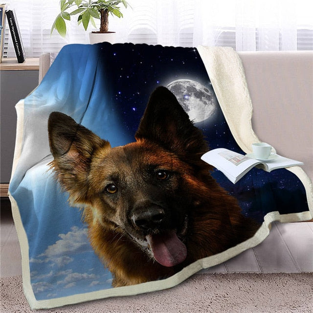 My Sun, My Moon, My German Shepherd Love Warm Blanket - Series 1
