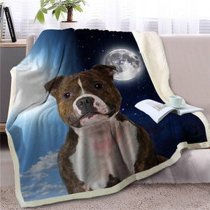 My Sun, My Moon, My Saint Bernard Love Warm Blanket - Series 1