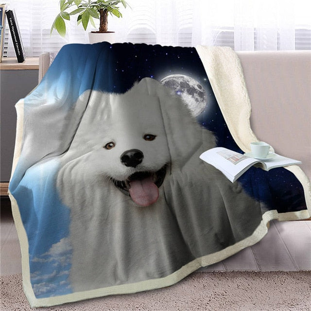 My Sun, My Moon, My Samoyed Love Warm Blanket - Series 1